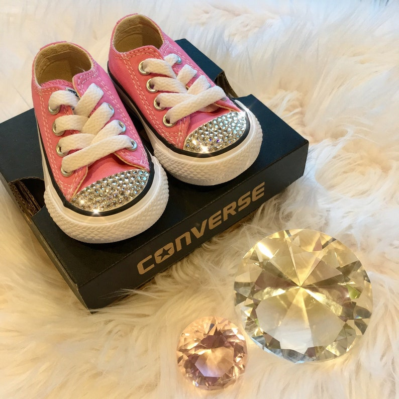 7c18cef57 Bling Converse Baby Shoes with Swarovski Crystals Converse | Etsy
