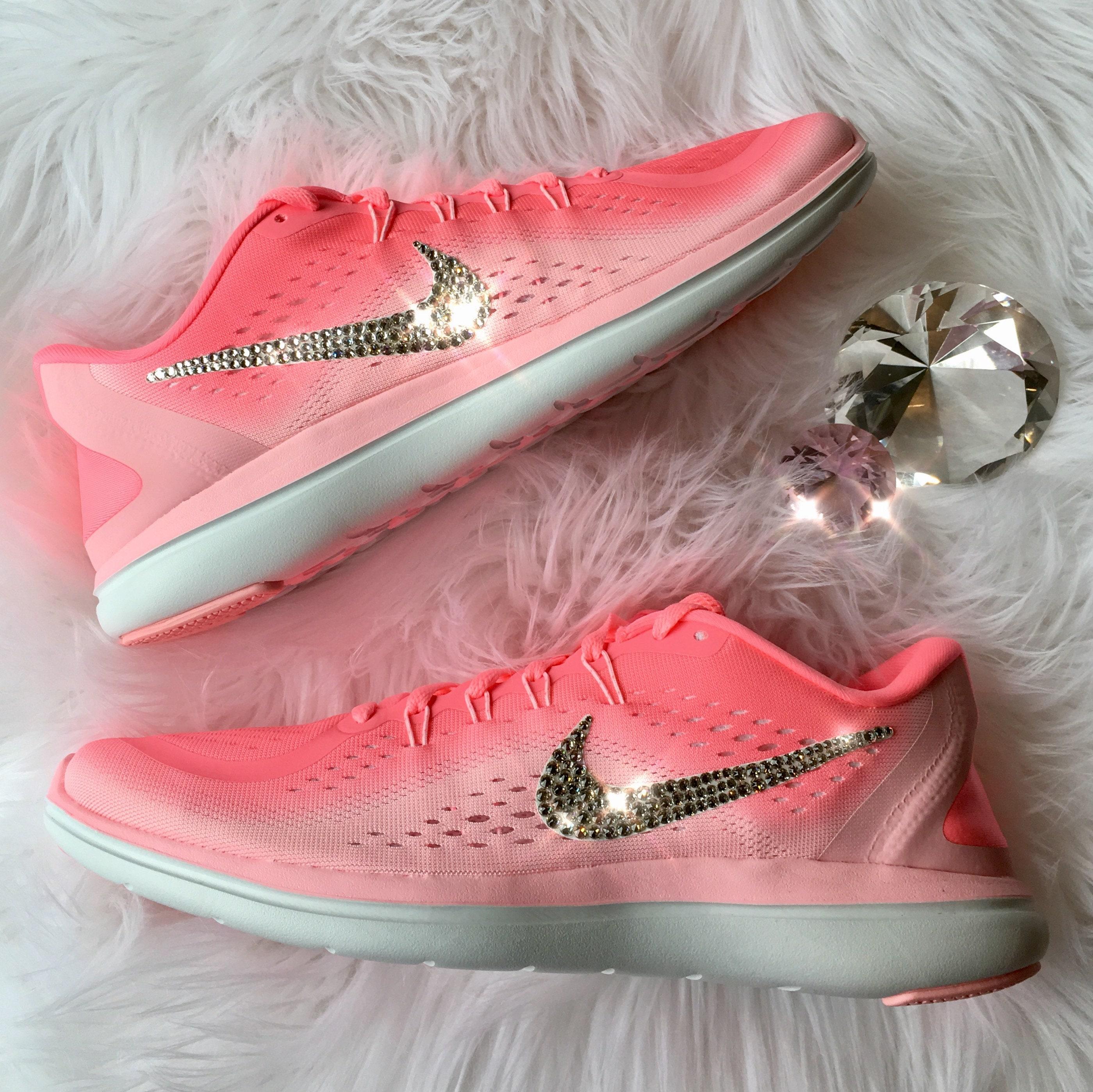 huge discount 1e05d 9c422 nouveaux bijoux swarovski flex rn des nike chaussures nike des cristaux    sunset Rose   ebloui