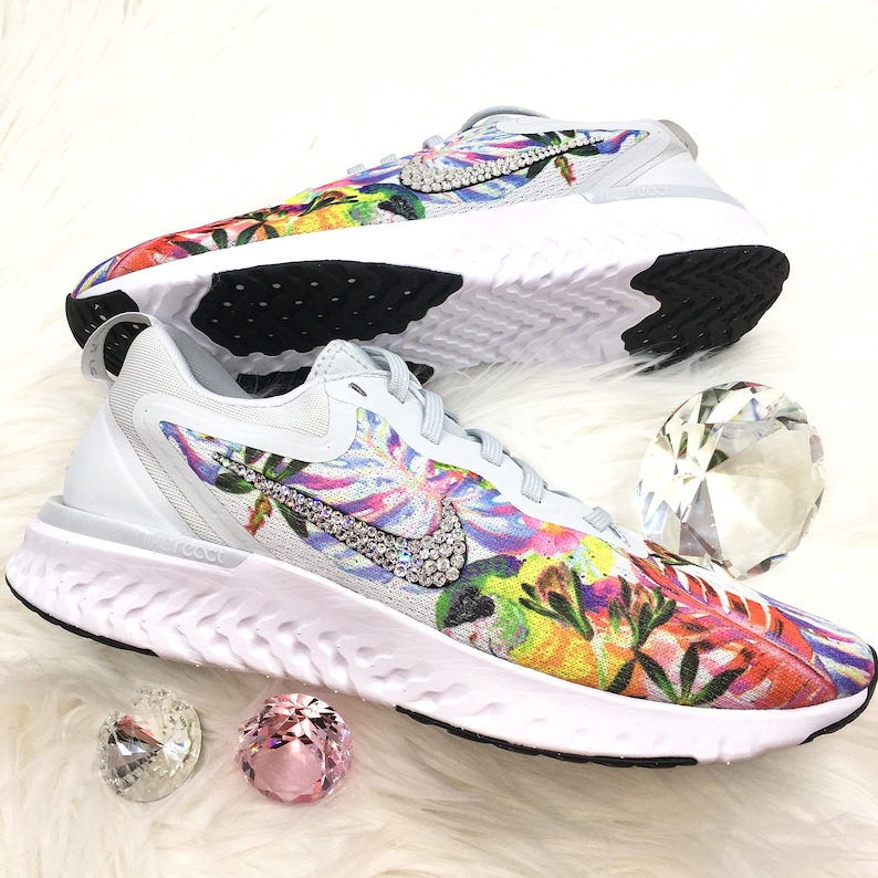 23f668cb1ddc Swarovski Nike Odyssey React Shoes Customized with SWAROVSKI®