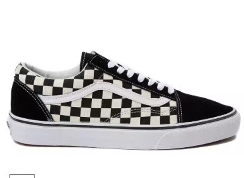 171a5b6bf9a3d Swarovski Vans Old Skool Chex Women's Skate Shoes Blinged out with  SWAROVSKI® Crystals Bling Vans in Black & White