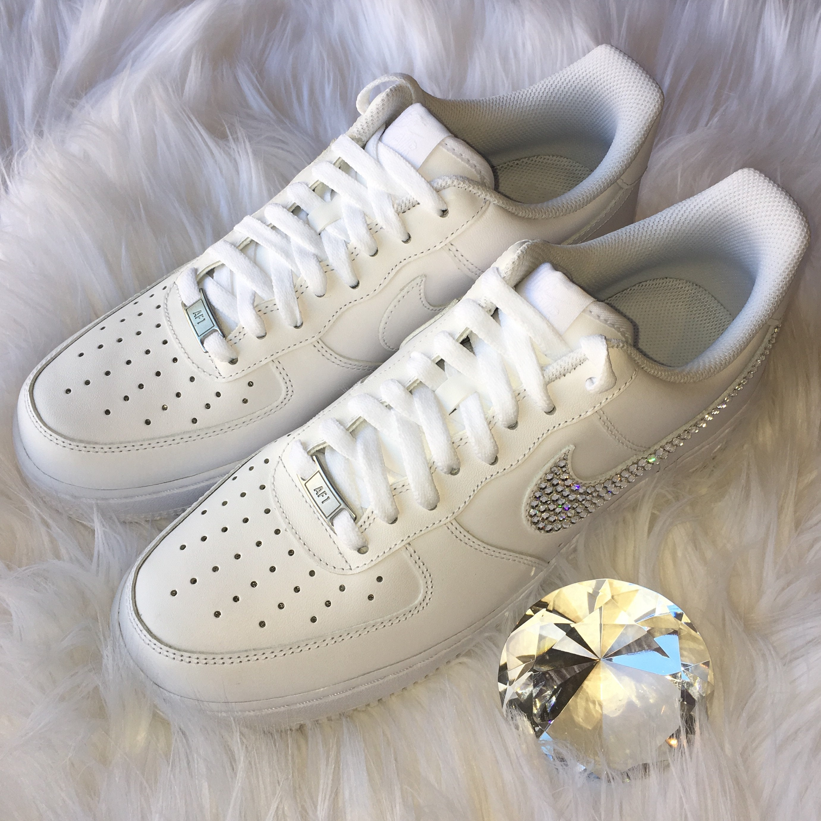 Bling Nike Air Force 1  07 with Swarovski Crystals ALL  5a56da196