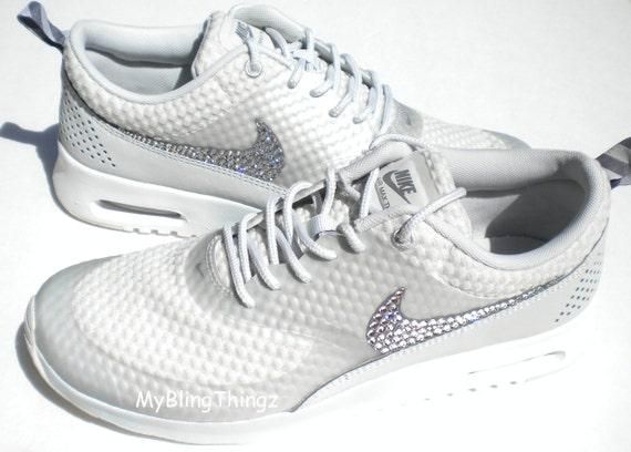 Nike Air Max Premium Thea chaussures - clair clair clair Base gris / Cool gris / métallique argent / blanc - éblouissant avec des cristaux Swarovski EleHommes ts f3e493