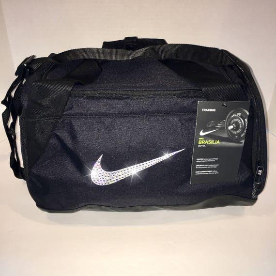 b4ab0669fe8 Bling Nike Brasilia Gym Bag with Swarovski Crystal Bedazzled   Etsy