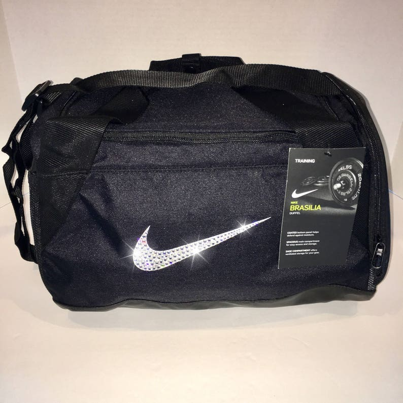 Bling Nike Brasilia Gym Bag with Swarovski Crystal Bedazzled  e55d22e0889bd