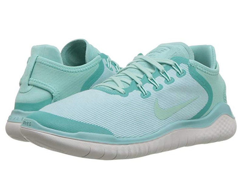 buy popular d0647 998a9 Swarovski Nike Free RN 2018 Sun Shoes Bedazzled with SWAROVSKI® Crystals -  Bling Nike Shoes in Mint Green Turquoise