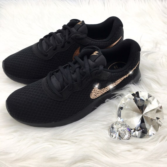 Bling Nike Tanjun Shoes with Swarovski Crystal Bedazzled  bbfad472a