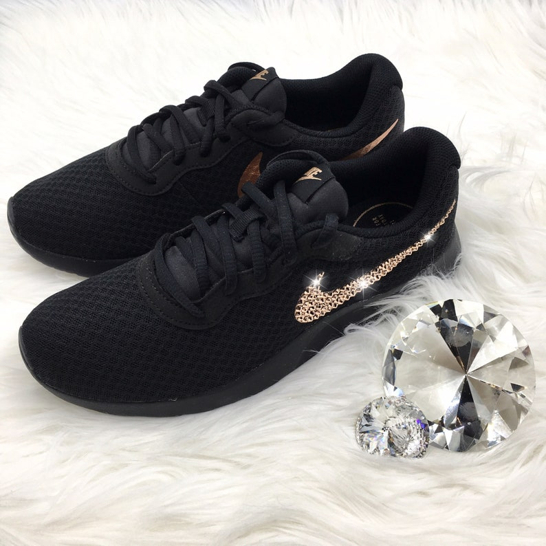 10885e564b830 Bling Nike Tanjun Shoes with Swarovski Crystal Bedazzled