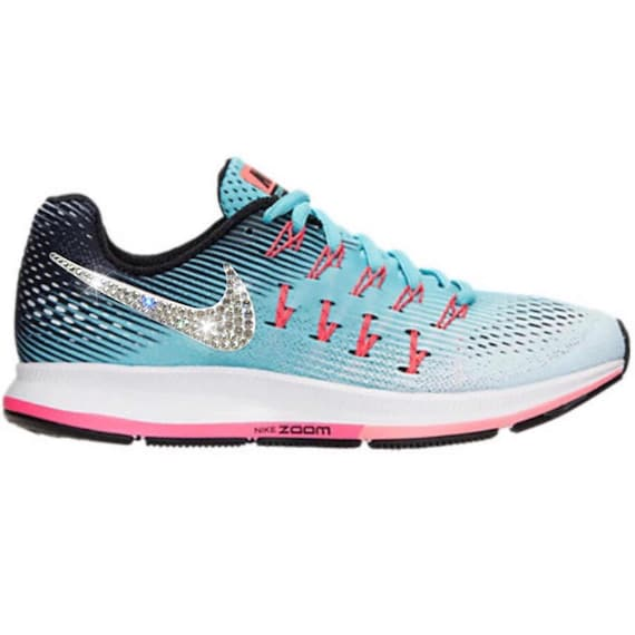 01e7f5a51a33a Bling Nike Air Zoom Pegasus 33 Shoes with Swarovski Crystals