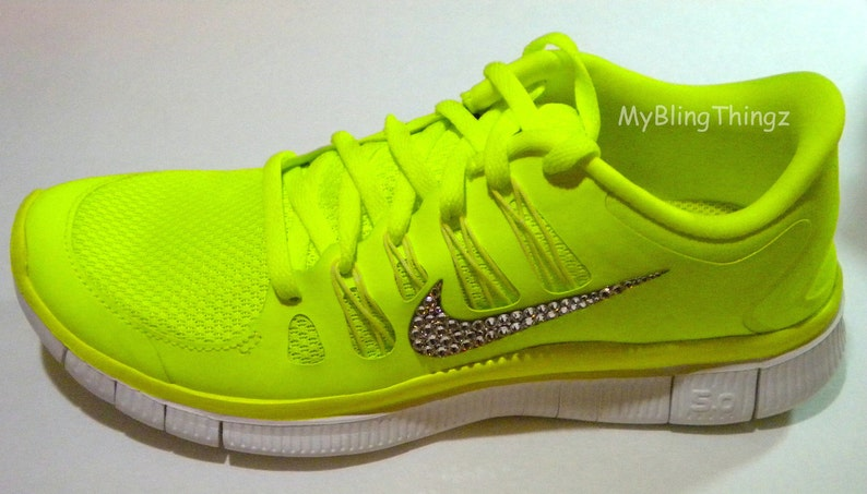 3e95d5626541 CLEARANCE Bling Nike Free Run 5.0 Shoes Neon Yellow Volt