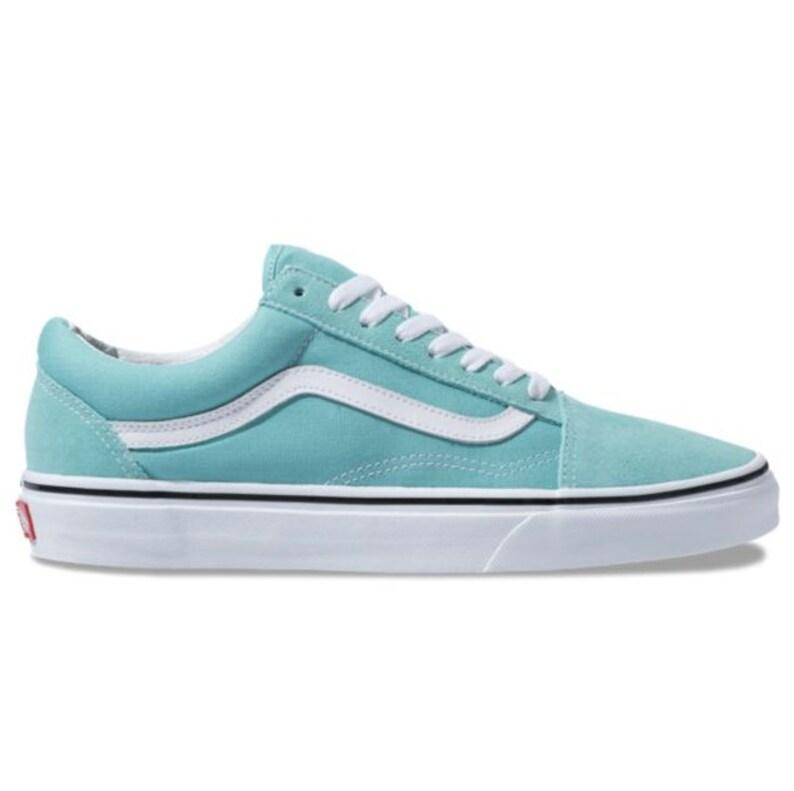 2ae8ea7f1f99b Swarovski Vans Old School Women's Skate Shoes Blinged out with SWAROVSKI®  Crystals Bling Vans in Aqua