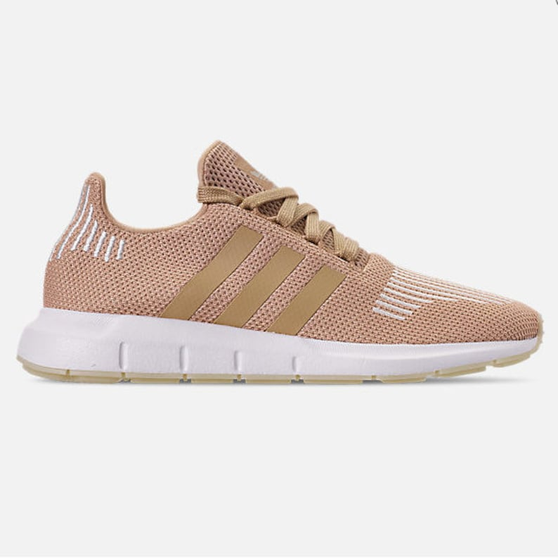 e6b32a30c7432 Bling Adidas Swift Run with SWAROVSKI® Xirius Rose-Cut Crystals - Ash Pearl  Bedazzled Women's Runner Casual Shoes