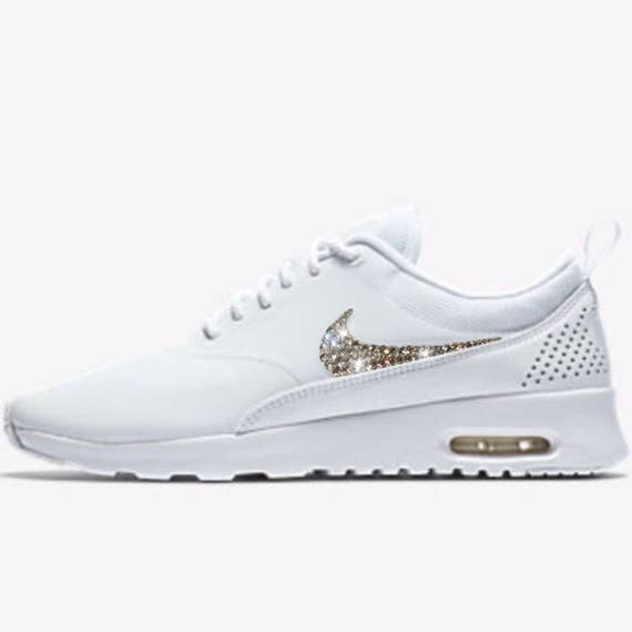 Bling Nike Air Max Thea Shoes with Swarovski Crystals White  2b13facda