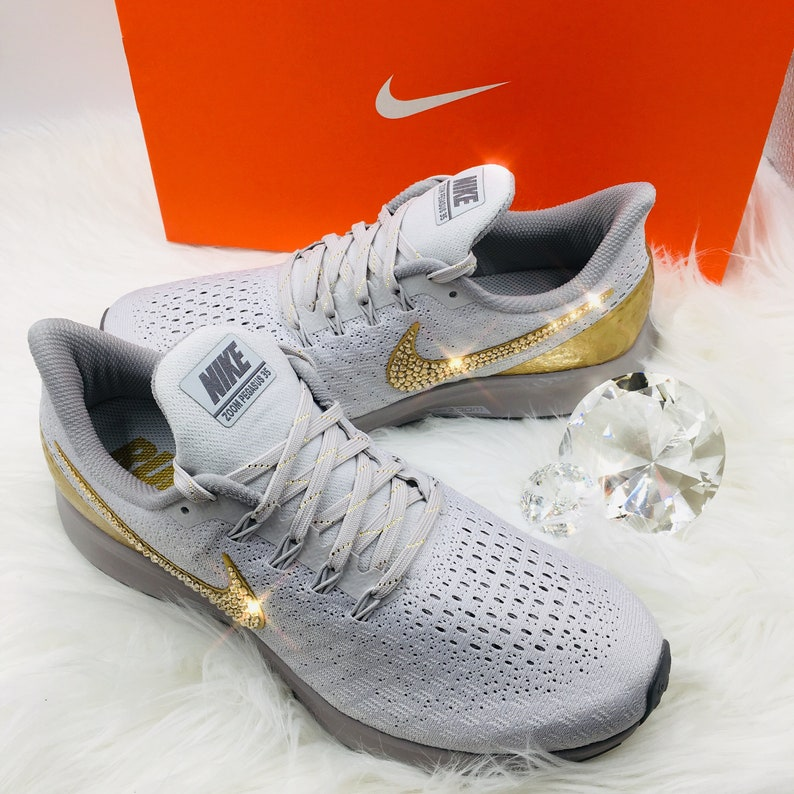 7cd5e521d408 Bling Nike Air Zoom Pegasus 35 Premium Metallic Shoes
