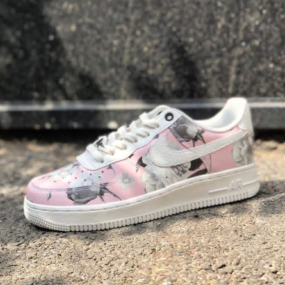 Bling Nike Air Force 1 '07 LXX with Swarovski Crystals * Floral * Bedazzled w100% Authentic Swarovski Crystal Rhinestones AF1