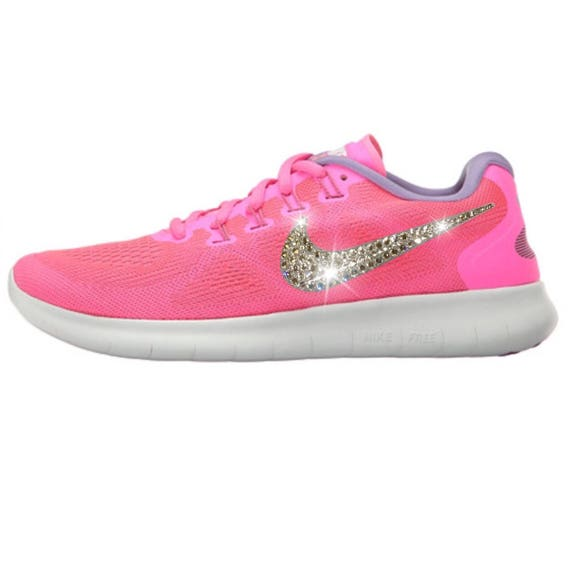 wholesale dealer 816fd 4dcb9 NEW Bling Nike Free RN 2017 Shoes with Swarovski Crystals * Pink *  Bedazzled with Authentic Swarovski Crystal Rhinestones