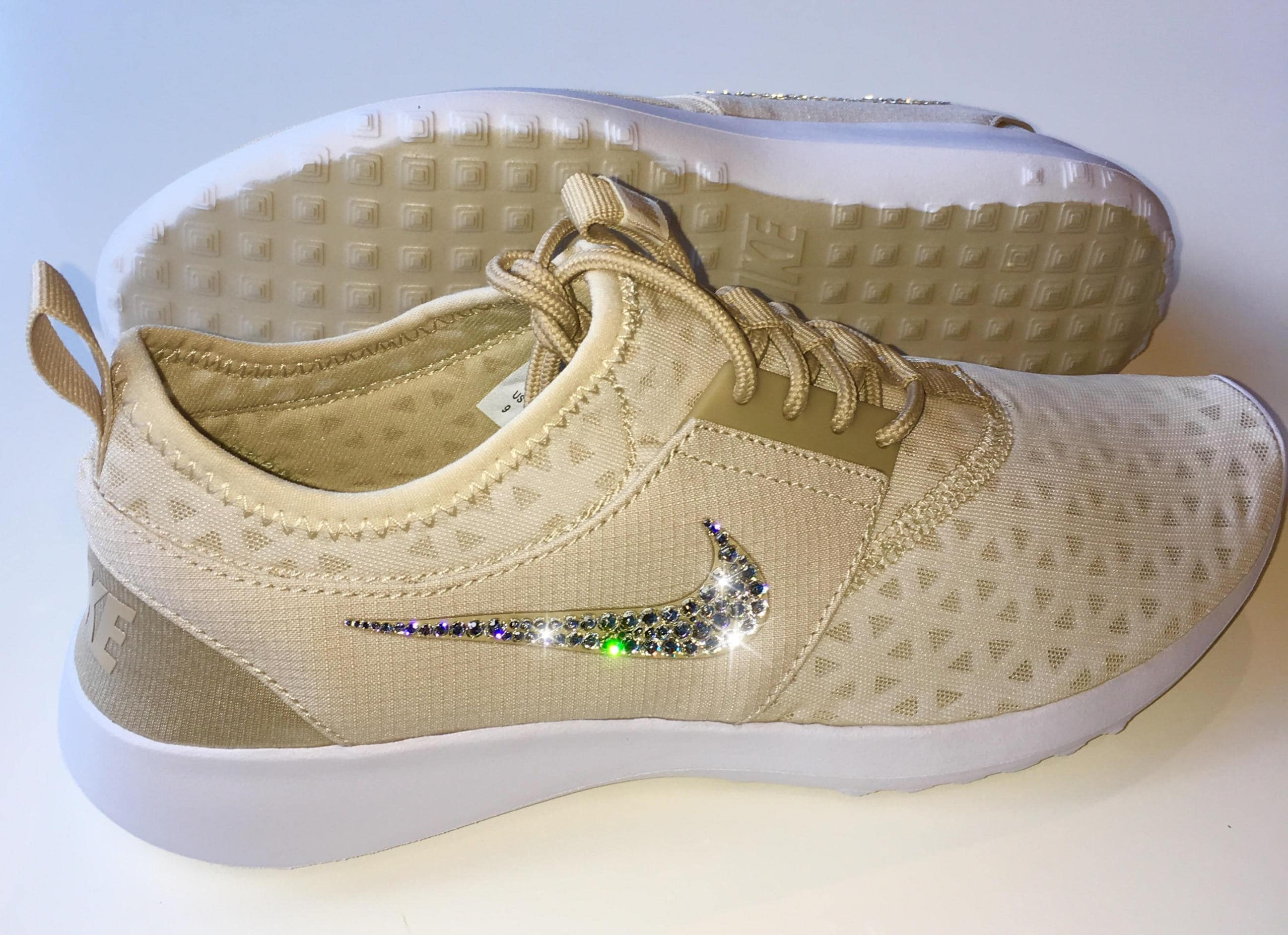 Clearance Nude Bling Nike Shoes With Swarovski Crystals  Etsy-6732