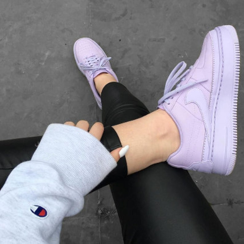 Swarovski Nike Af 1 Sage Low Lx Casual Shoes With Swarovski Etsy