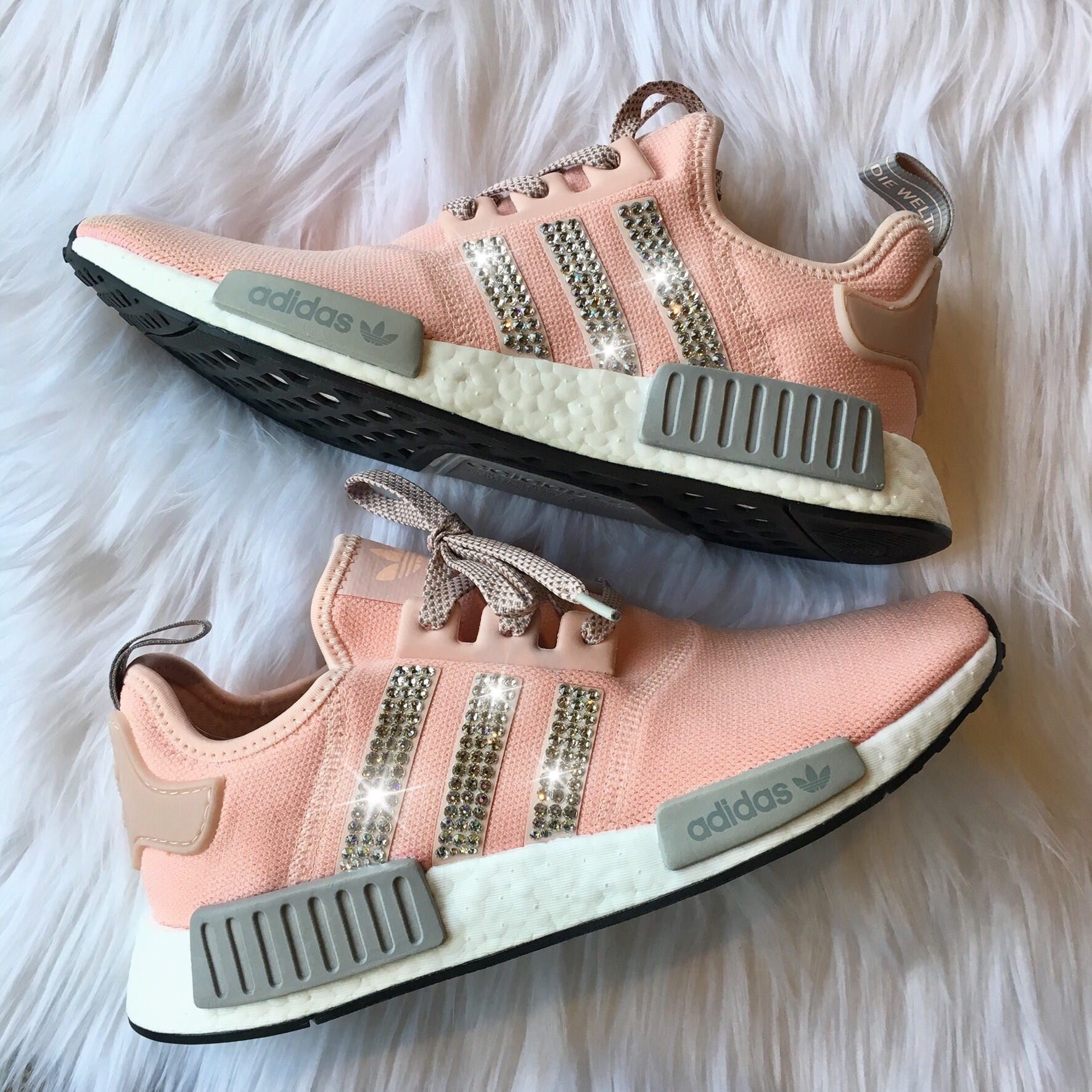 2c01e91d859b2 Bling Adidas NMD with Swarovski Crystals Women s