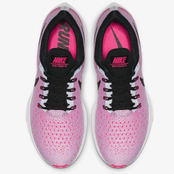 NEW Bling Nike Air Zoom Pegasus 35 Shoes with Swarovski Crystals * Easter Spring Pink