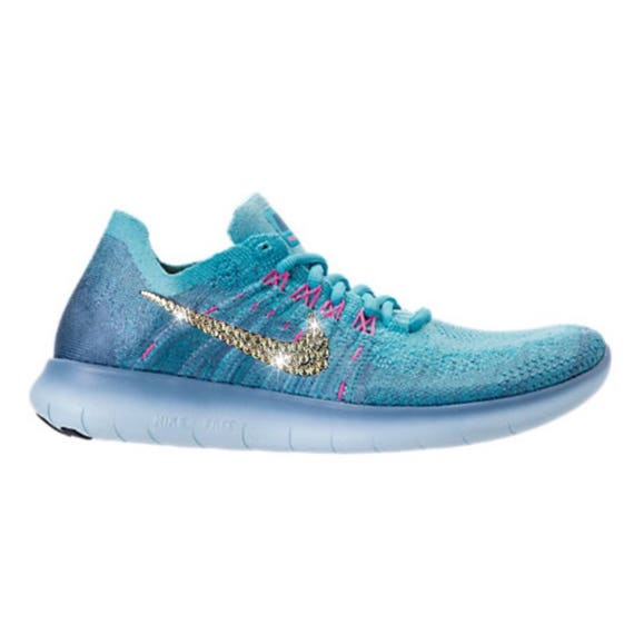 Crystal Bling Nike Free RN Flyknit 2017 Shoes with Swarovski  a397473bb