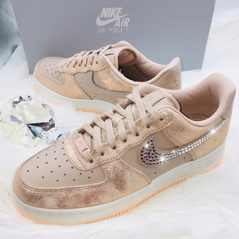 NEW Bling Nike Air Force 1 07 Premium Shoes with Swarovski  708541f1e8