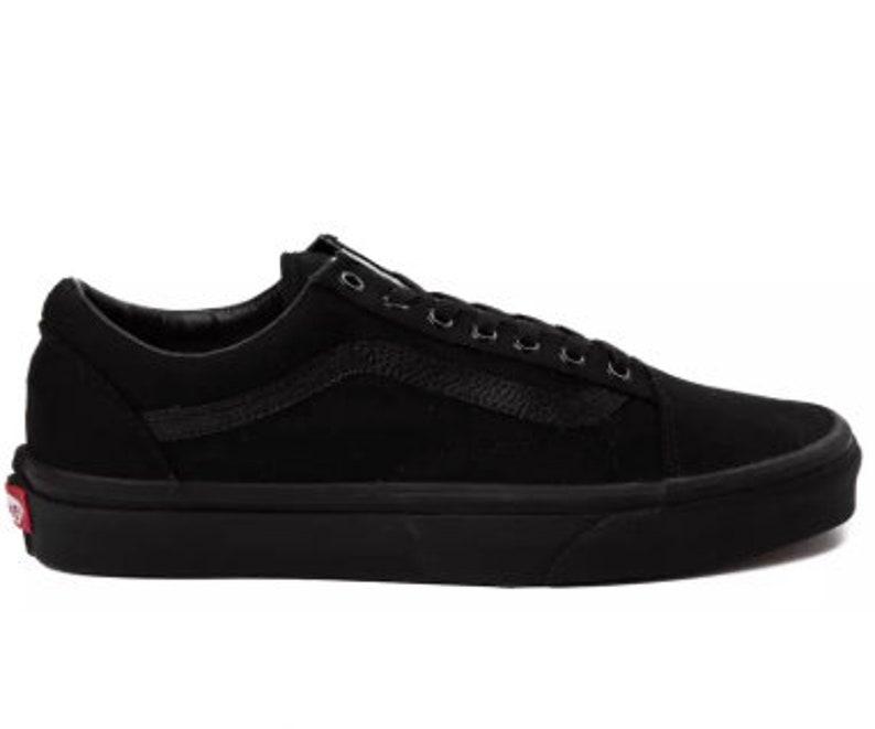 5f4eee3573d39 Swarovski Vans Old Skool Women's Skate Shoes Blinged out with SWAROVSKI®  Crystals Bling Vans in Classic All Black