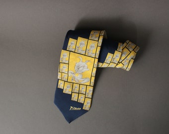 art bow tie picasso bow tie Girl on a Ball bow tie beige bowtie pablo picasso tie christmas gift idea Young Acrobat on a Ball bow tie