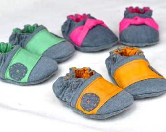 Reversible Seamless Crib Shoe. 4 Different Styles Included.  Size Newborn - 3 Years Old.  PDF SEWING PATTERN. Toddler shoe pattern included