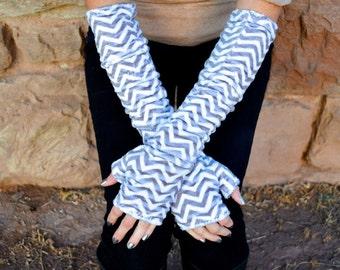 Easy beginner sewing pattern.  Fingerless gloves sewing pattern.  Women's sewing pattern.