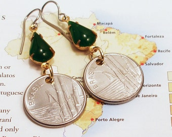 Brasil, Authentic Coin Earrings --- Exotic Grasses --- Bamboo Forests - Brazil - Adventure Travel - Eco Tours - Renewable Resources - Green