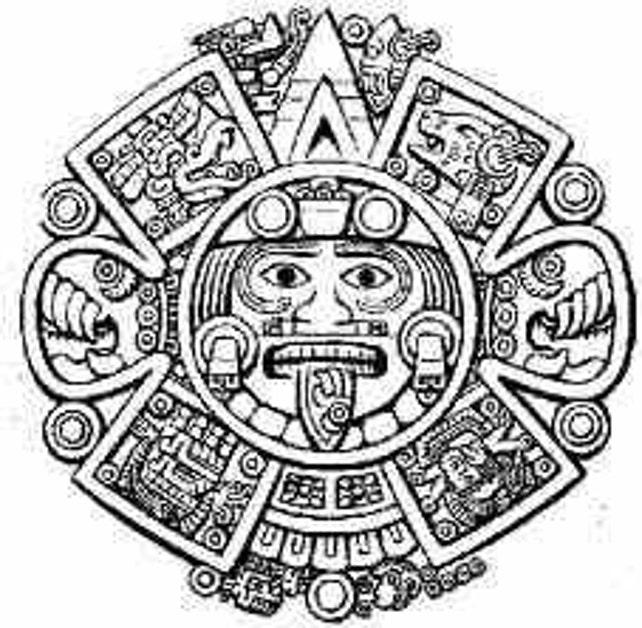 Mexico Authentic Coin Necklace Sun God Tonatiuh Sun Etsy