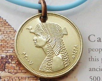 Egypt, Authentic Coin Necklace --- Queen Cleopatra --- Pharoh - Goddess - Isis - Ancient Egypt - Egyptian Pharaoh - Archeology - Travel
