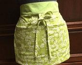 Green Floral Basket Aprons