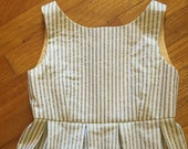 Girls Gold Striped Day Dress