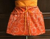 Orange Circle Basket Aprons