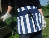 Blue Striped Garden Apron