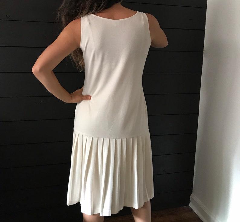 70s does 20s vintage slip dress size medium 78 drop waist dress sheer Vintage knit dress