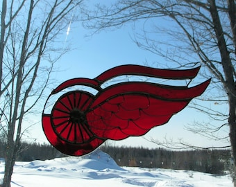 Wing lg. stained glass suncatcher