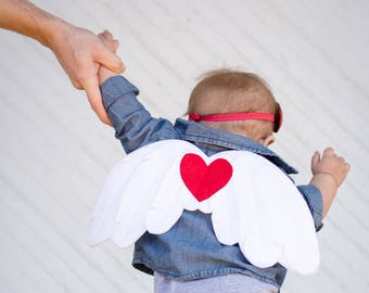 Cupid Wings, Valentine Day Gift, Baby Cupid Costume, Cupid Play Wings, Valentines Day Childrens Dress Up, Pretend Play, Photo Prop, Angel