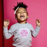 Fries Before Guys™, Valentines Day Sweatshirt, Conversation Heart, Kids Clothes, Gifts Under 25, VDay Gift, Childrens Hoodie, V Day, Custom