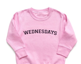 Wednesdays Sweatshirt, Mean Girls, We Wear Pink Tee Shirt, Funny Girls Shirt, BFF clothes, Best Friends T Shirt, Girls Gift, Mommy and me