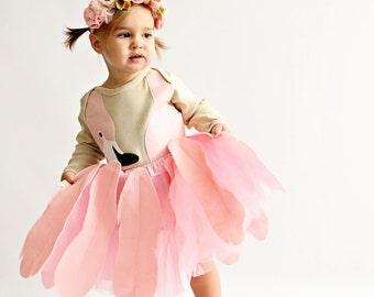 Girls Flamingo Tutu Halloween Costume, Costume Children, Bird Costume, Toddler Halloween Costume, Baby Halloween Costume, Bjork Costume