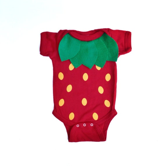 Strawberry Kids Food Halloween Costume