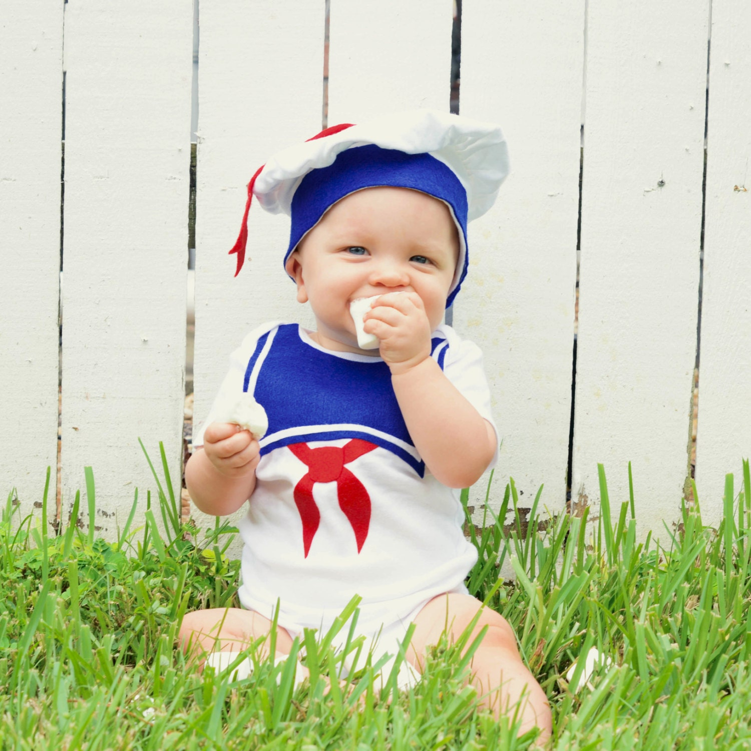6 Month Baby Halloween Costume | Fourth Of July 4th Stay Puft Baby Costume Toddler Etsy