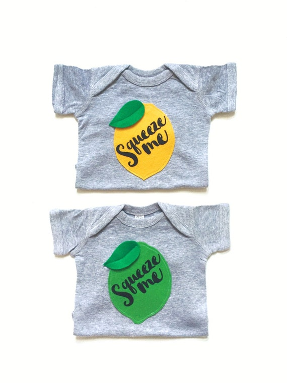 Squeeze me Baby Bodysuit in Lemon and Lime