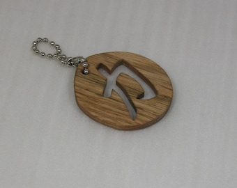 Keychain with Strength Symbol - Key Ring Accessory - Chinese Strength Symbol