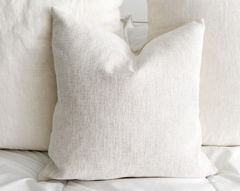 Snow White Chenille Pillow Cover - Stain Resistant