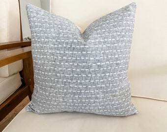 Chambray with White Dashes Pillow Cover