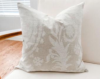 Suzani White Cloud Pillow Cover