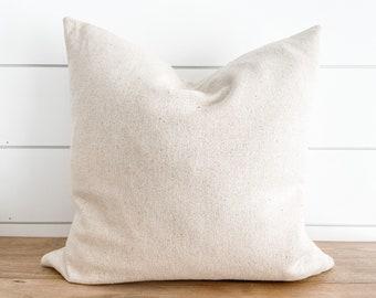 Farmhouse Grain Sack Pillow Cover - Plain Grain Sack